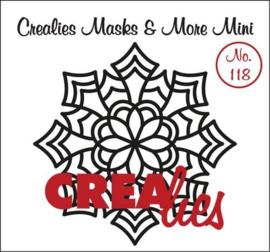 Crealies Masks & More Mini no. 118 Mandala E 105x105 mm / CLMMM118 115634/8118