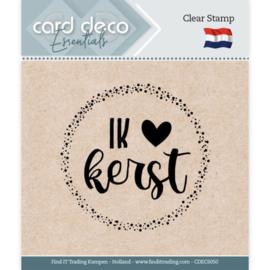 Card Deco Essentials - Clear Stamps - Ik (hartje) Kerst CDECS050