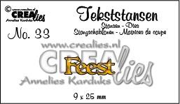 Crealies Tekststans - feest 9 x 25 mm / CLTS33 115634/3133