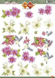 3D A4 knipvel - Laura Broos - vogeltjes CD10252