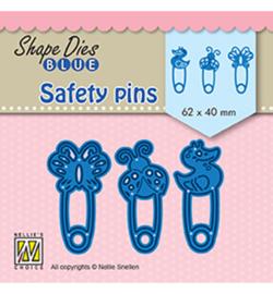 Shape Dies Blue Safety pins SDB079