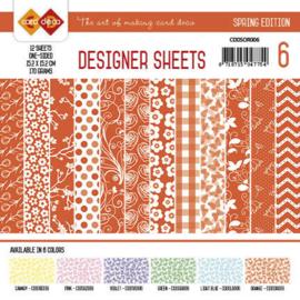 Card Deco - Designer Sheets - Spring Edition oranje CDDSOR006