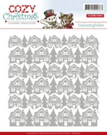 Embossing Folder - Yvonne Creations - Cozy Christmas YCEMB10004