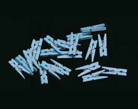 Miniknijpers 20 st. Blauw