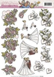 3D Knipvel - Yvonne Creations - Celebrations - Huwelijk CD10634