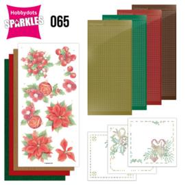 Sparkles Set 65 - Jeanine's Art - Christmas Red Flowers SPDO065