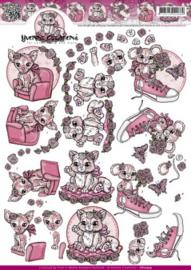 3D Knipvel - Yvonne Creations - Pink Creations CD10574