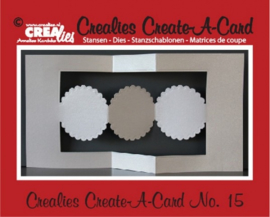 Crealies Create A Card no. 15 stans voor kaart CCAC15 / 13,5 cm x 26 cm 115634/0515