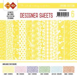 Card Deco - Designer Sheets - Spring Edition kanariegeel CDDSKG006
