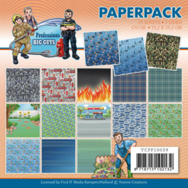 Paperpack - Yvonne Creations - Big Guys Professions YCPP10039
