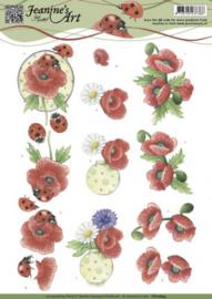 3D Knipvel - Jeanines Art - voorjaarsbloemen - Birds CD10845