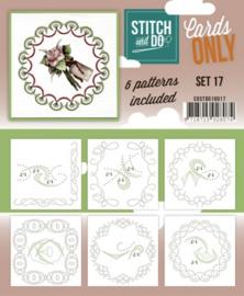 Stitch & Do - Cards only - 4k - Set 17 COSTDO10017