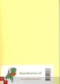 A5 karton 1 geel