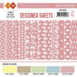 Card Deco - Designer Sheets - Sweet Pet-Oudroze CDDSOR004