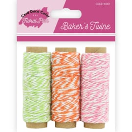Bakers Twine - Yvonne Creations - Floral Pink CDCBT10001