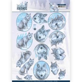 3D Knipvel - Amy Design - Winter Friends - Winter Wolves CD11406