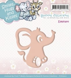 Die - Yvonne Creations - Smiles, Hugs and Kisses - Elephant YCD10021