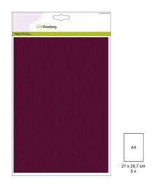 1 PK (1 PK) Papiervel-CV bordeaux 5 ST A4 90GR 001345/0025