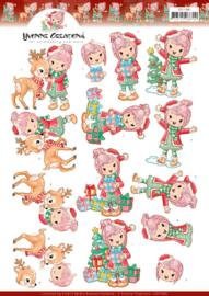3D knipvel - Yvonne Creations - Lola loves Christmas  CD11380
