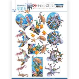3D Push Out - Amy Design - Underwater World - Sea Animals SB10455