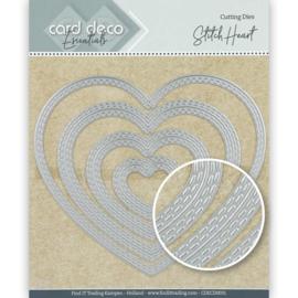 Card Deco Essentials Cutting Dies Stitch Heart CDECD0031