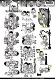 3D Knipvel - Yvonne Creations - Pierrotje CD10688