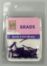 40st Floral Brads 3 mm FLP-BR-009 Purple