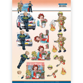 3D Cutting Sheet - Yvonne Creations - Big Guys Professions - Female Professions CD11672
