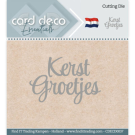 Card Deco Essentials - Cutting Dies - Kerst Groetjes CDECD0037