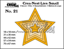Crealies Crea-nest-Lies Small Sterren (5x) CNLS21 / max. 70x67mm