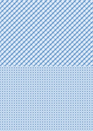 Doublesided background sheets A4 blue squares NEVA012