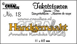 Crealies tekststans - Handgemaakt (NL) CLTS18 11x69 mm 115634/3118
