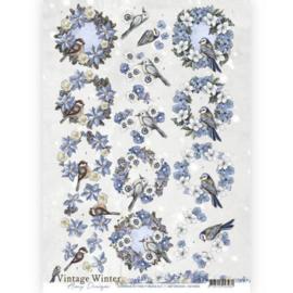 3D knipvel - Amy Design - Vintage winter - Wreaths CD10982