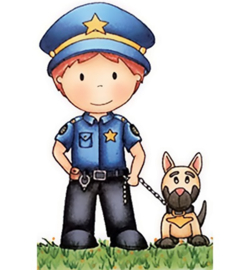 Paper Nest Dolls Rubber Stamps - Police Officer Owen