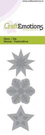 CraftEmotions Die - ster, kristal 5x10cm - Sweet Vintage Christmas 115633/0123