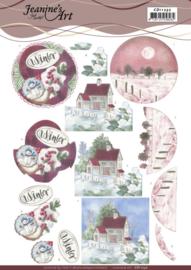 3D Knipvel - Jeanine's Art - Red Winter CD11232