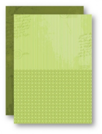 Doublesided background sheets A4 green stripes NEVA029