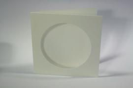 CraftEmotions linnen kaart passepartout rond 1st ivoor 13,5x13,5cm 250gr - 001238/1310
