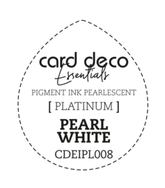 Card Deco Essentials Fast-Drying Pigment Ink Pearlescent Pearl White CDEIPL008