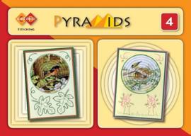 3D boekje Pyramids 4 - met borduren PYM004
