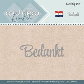 Card Deco Essentials - Dies - Bedankt CDECD0073