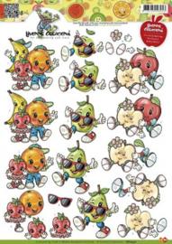 3D Knipvel Yvonne Creations - CD10371 Beterschap Fruitpoppetjes