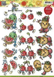 3D Knipvel - Yvonne Creations - Fruitpoppetjes CD10475