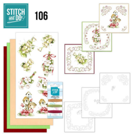 Stitch and Do 106 Pink Spring Flowers STDO106