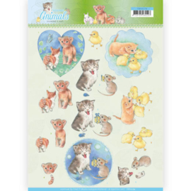 3D knipvel - Jeanine's Art - Young Animals - Kittens CD11274