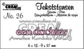 Crealies tekststans - Een dochter (NL) CLTS26 115634/3126