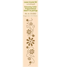 Leane creatief Border Embossing - Flower swirls 35.0263