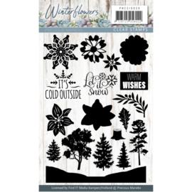 Clearstamp - Precious Marieke - Winter Flowers PMCS10039