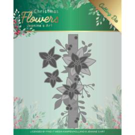Dies - Jeanines Art Christmas Flowers - Poinsettia Border JAD10105