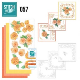 Stitch and Do 57 - Oranje rozen STDO057